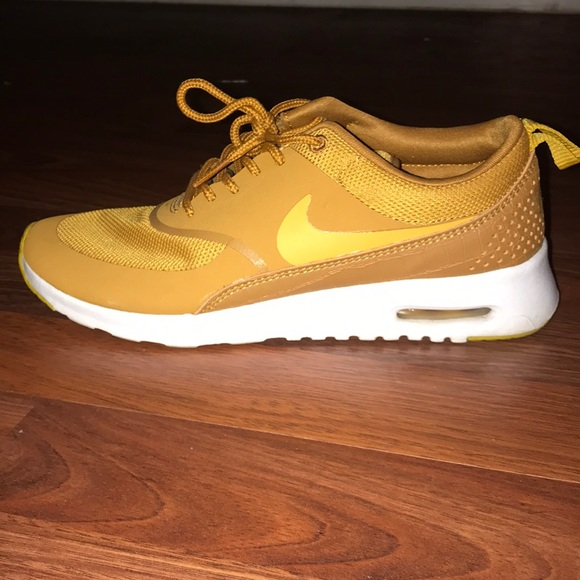 Mustard Color Nike Air Max Thea Shoes
